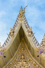 Gable roof at  Wat Sisa Thong ,Nakhon Pathom,Thailand
