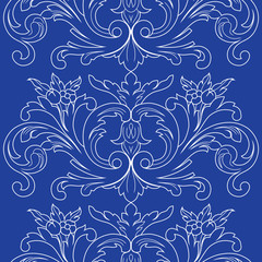 Vintage floral ornamental seamless pattern. Vector.