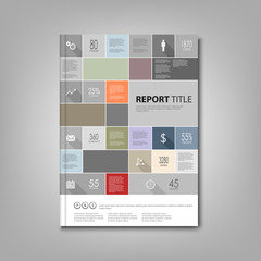 Brochures book or flyer with info graphic template