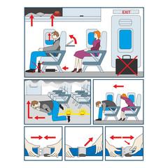 Инструкция по эвакуации на борту самолета в чрезвычайных ситуациях