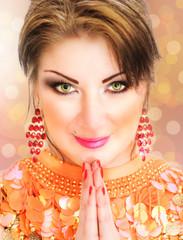 Portrait of a beautiful fashion indian woman