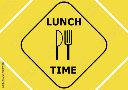 Yellow Signal For Lunch Time