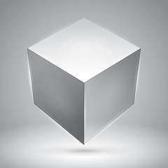 Vector cube, transparent object, graphic abstraction design