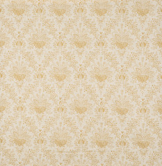 Yellow Floral Design Diagonal Pattern Wallpaper Swatch