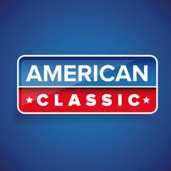 American Classic vector button