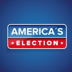 Americas Election vector button