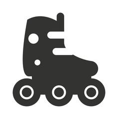 Roller skate icon silhouette shoe wheel boot design vector illustration.