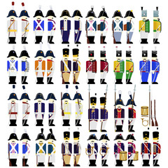 Military uniforms of the army of Prussia in 1812