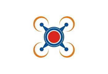 drone icon vector logo