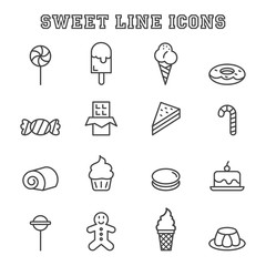 sweet line icons
