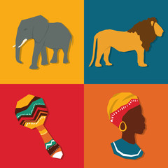 Flat illustration about africa design