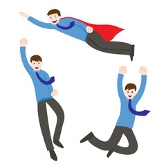 Super businessman, Business concept cartoon illustration