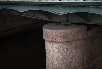 granite abutment of the steel bridge
