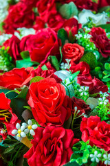 bunch of roses arrange for background