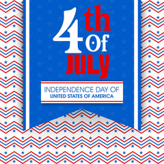 Poster or Banner for American Independence Day.