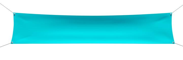 Empty blue textile banner