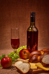 Wine in still life