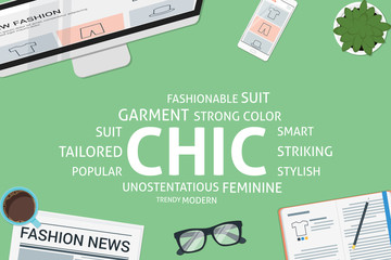 vector chic concept,template