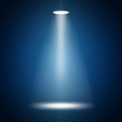 white spotlight in dark atmosphere.