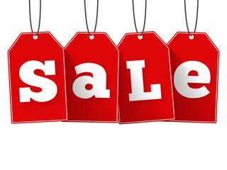 Papier Peint - Red Sale Tags