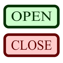 Set open and close sign 14.04