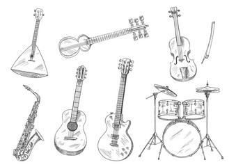 Sketchy musical instruments for arts design