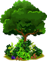 tree and grass for you design