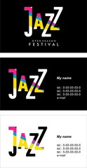 jazz and blues business cards
