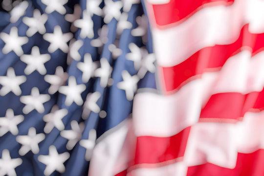 old glory flag blurred