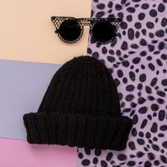 Stylish black cap and sunglasses. urban Swag Fashion
