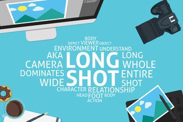vector long shot concept,template