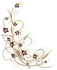 Blumen, Gräser und Getreide