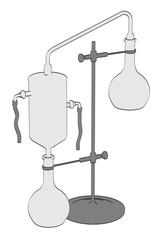 2d cartoon illustration of alchemy tool