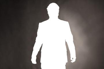 anonyme Silhouette eines Mannes