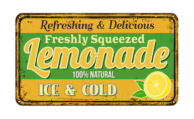 Lemonade vintage rusty metal sign