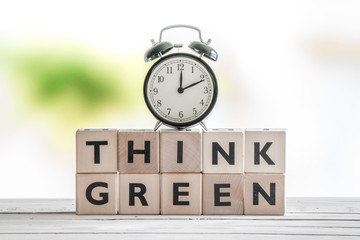 Time to think green sign