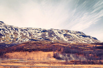 Mountain landscape in Iceland