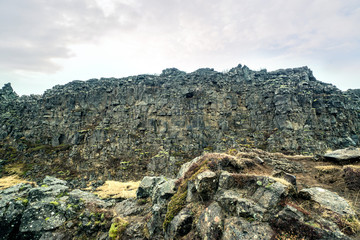 Mountain cliffs in Iceland