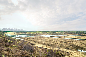 Landscape at the Thingvellir national park