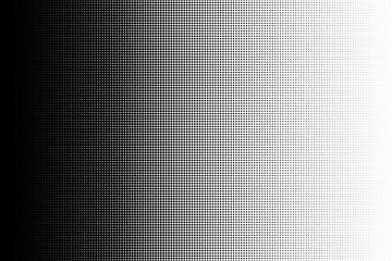 Black dot pattern. Circle transition pattern background. Vector