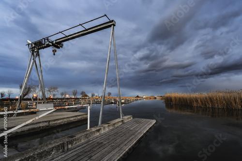 Rust neusiedlersee winter  Hafen in Rust am Neusiedlersee im Winter