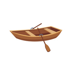 Wooden Boat With Peddles