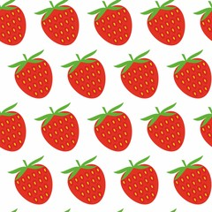 Strawberry seamless pattern. Vector texture for textile, wrapping, wallpapers and other surfaces.