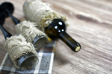 wine glass wood floor