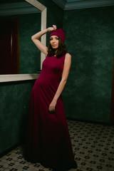 Beautiful young woman in the night club