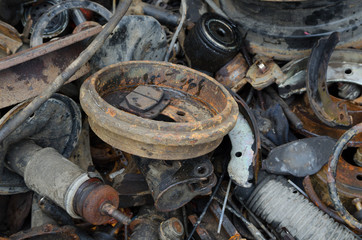Useless,  rusty brake discs shock absorber and other parts