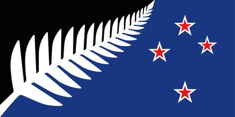 new zealand silver fern flag