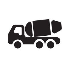 Concrete Masonry Truck flat icon - EPS 10 Vector icon