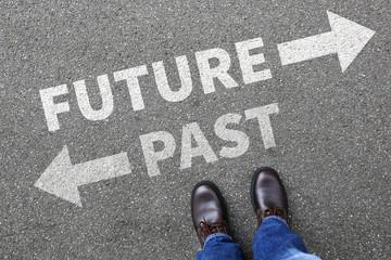 Future past business man concept businessman goals success life