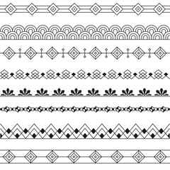 Art Deco Borders Style Line and Geometric Linear Design -variable line-